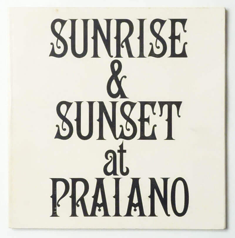 Sunrise & Sunset at Praiano | Sol LeWitt
