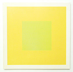 Lines in two directions in five colors on five colors with all their combinations | Sol Lewitt