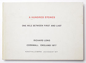 A Hundred Stones One Mile Between First And Last Cornwall England 1977  | Richard Long