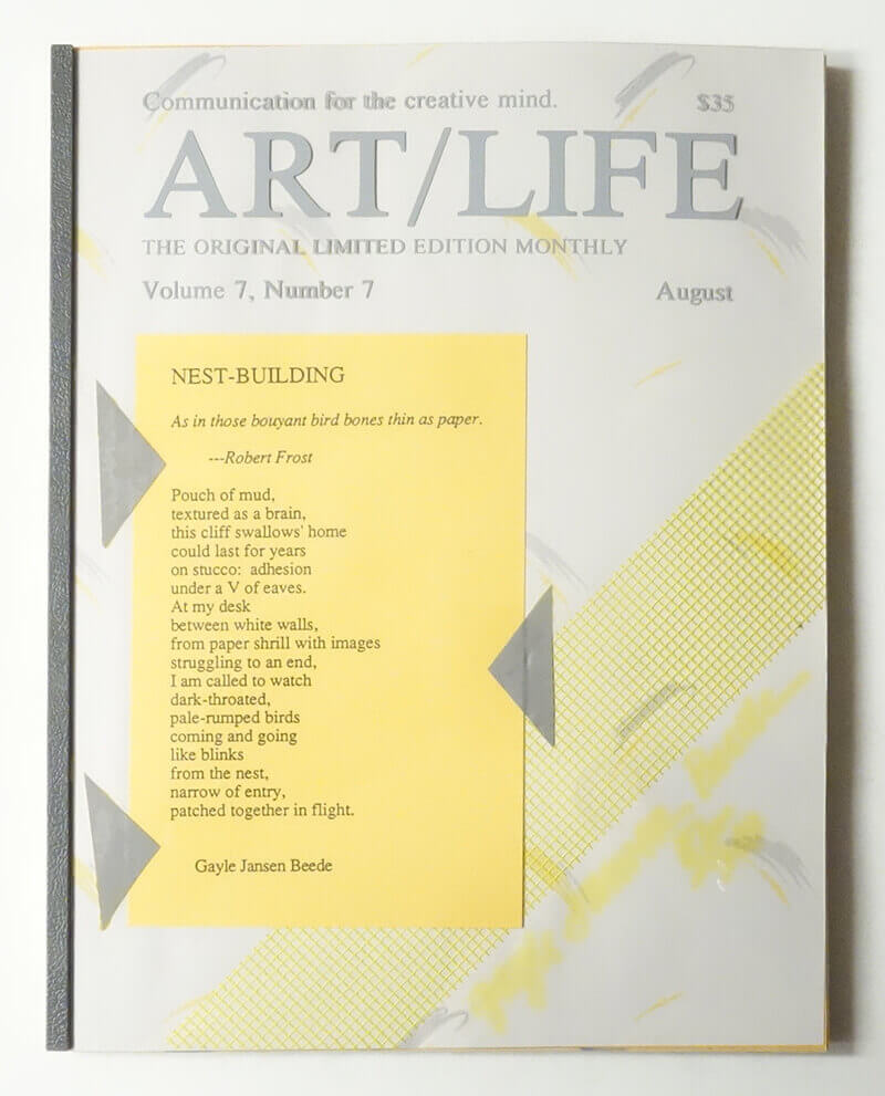 ART/LIFE: Communication for the creative mind. Volume 7, Number 7 August 1987
