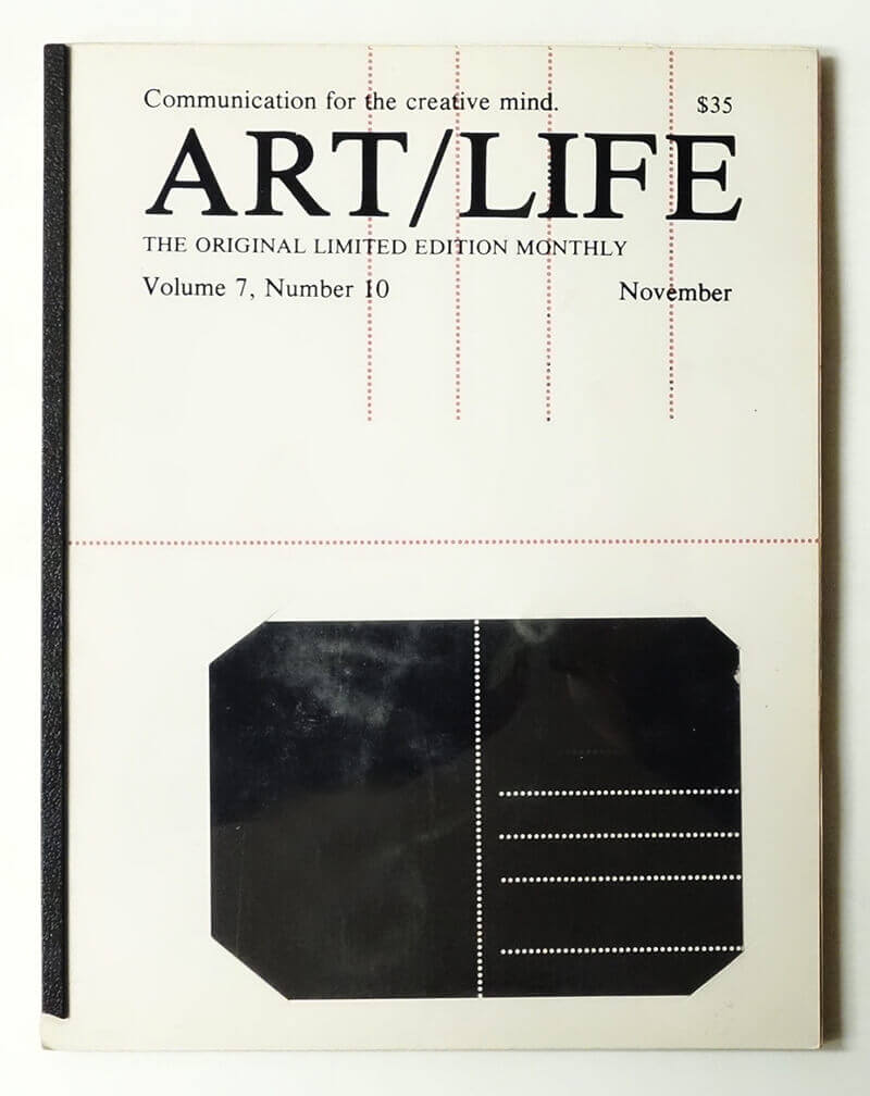 ART/LIFE: Communication for the creative mind. Volume 7, Number 10 November 1987