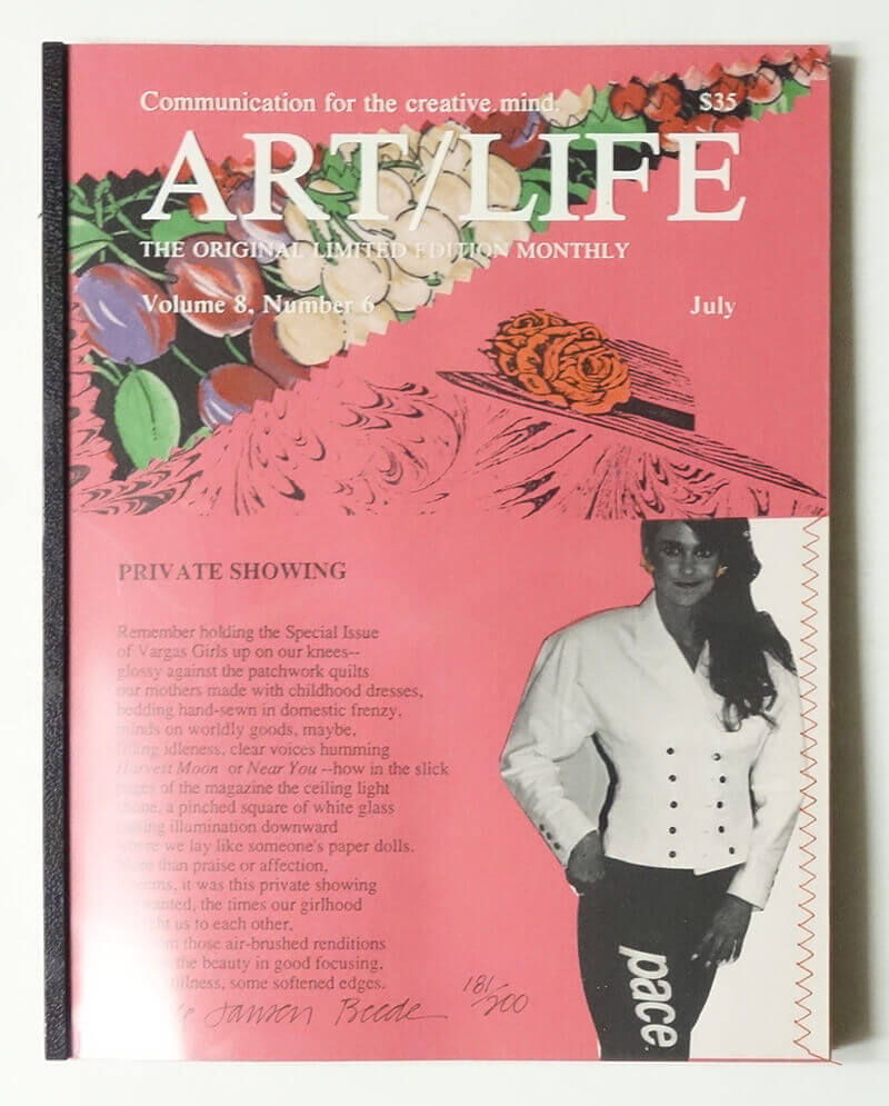 ART/LIFE: Communication for the creative mind. Volume 8, Number 6 July 1988