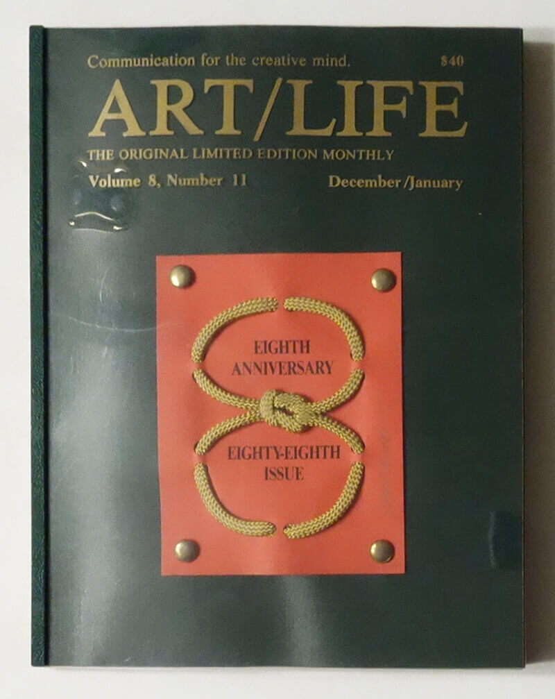 ART/LIFE: Communication for the creative mind. Volume 8, Number 11 December/January 1988