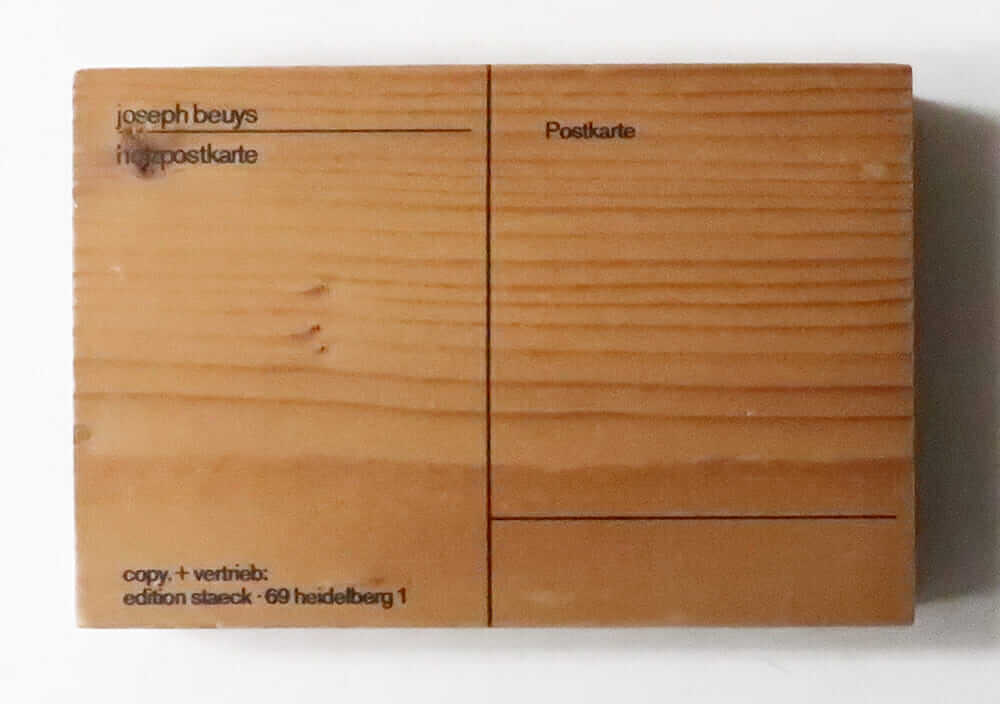 Holzpostkarte (Wood Postcard) Joseph Beuys