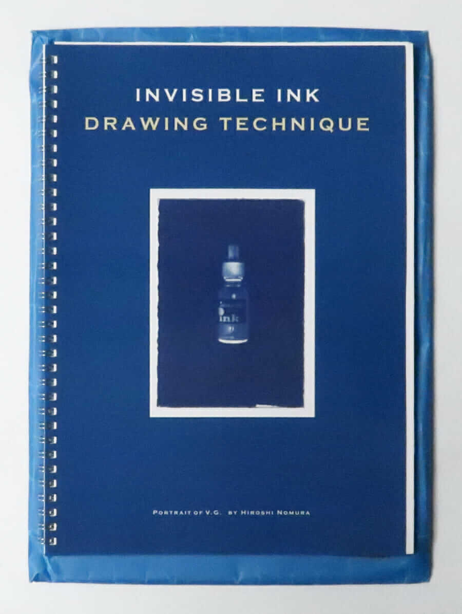 Invisible Ink Drawing Technique Portrait of V.G. by Hiroshi Nomura
