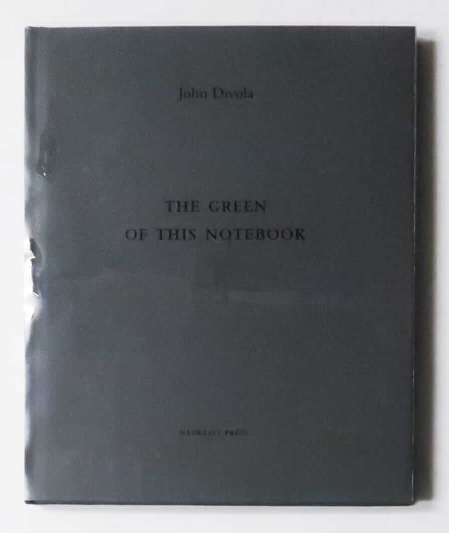 The Green of This Notebooks | John Divola